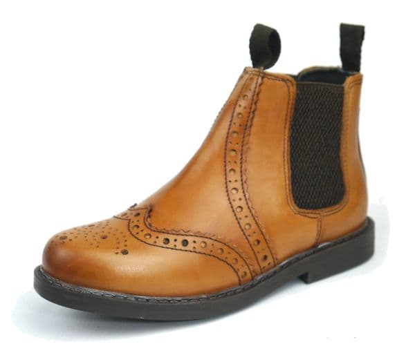 Frank James - Cheltenham JUNIOR Tan Chelsea Boots